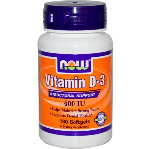 Now Foods, Vitamin D-3 400 IU, 180 Softgels