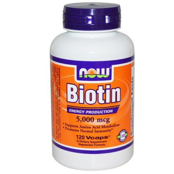 Now Foods, Biotin, 5,000 mcg, 120 Vcaps