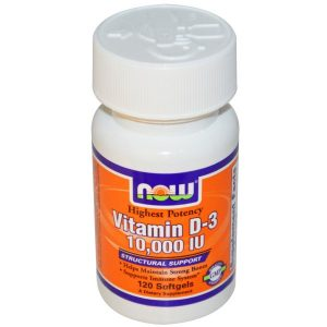 Now Foods, Vitamin D-3, 10,000 IU, 120 Softgels