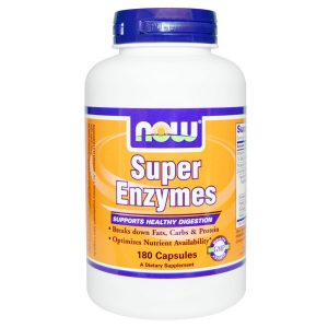 Now Foods, Super Enzymes, 180 Capsules