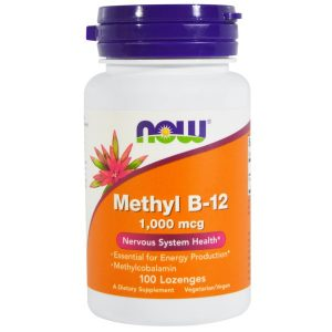 Now Foods, Methyl B-12, 1,000 mcg, 100 Lozenges