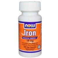 Now Foods, Iron, 18 mg, 120 Veggie Caps