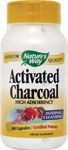 Nature's Way Activated Charcoal -- 100 Capsules