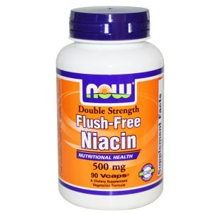 Now Foods, Flush-Free Niacin, Double Strength, 500 mg, 90 Vcaps