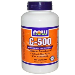 Now Foods, C-500, Calcium Ascorbate-C, 250 Capsules