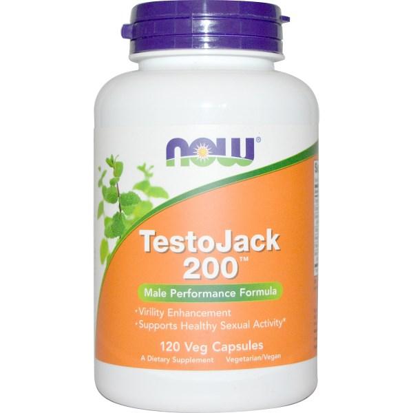 Now Foods, TestoJack 200, 120 Veggie Caps