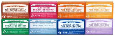 Dr. Bronner's Magic Soaps All-One Hemp Pure-Castile Soap bar