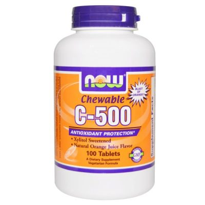Now Foods, Chewable C-500, Orange, 100 Tablets