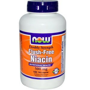 Now Foods, Niacin, Flush-Free, Double Strength, 500 mg, 180 Vcaps