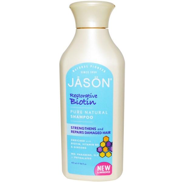 Jason Natural, Pure Natural Shampoo, Restorative Biotin,