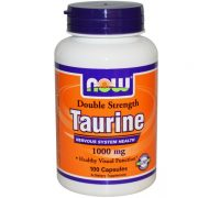 Now Foods, Taurine, Double Strength, 1,000 mg, 100 Capsules